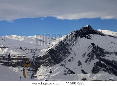 Ski Resort At Evening
