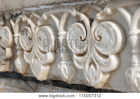 Flower Relief On Marble