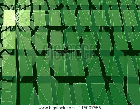 Abstract Modern Digitally Generated Green Background