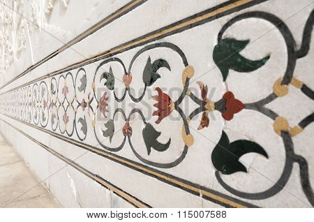 Decorative Elements Created By Applying Paint, Stucco, Stone Inlays And Carvings