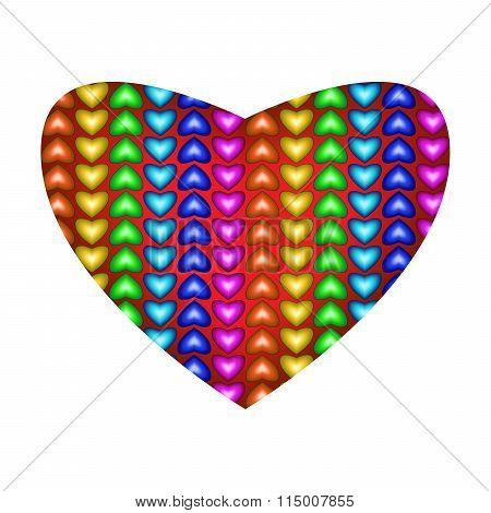 Big Beautiful Multicolored Heart