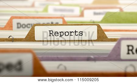 File Folder Labeled as Reports.