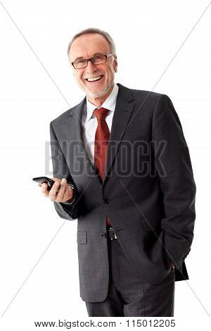 Smiling Mature Business Man