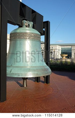 Replica of the Liberty Bell at Union Station in Washington DC USA