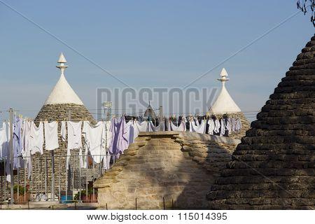 Alberobello. Clothes to dry