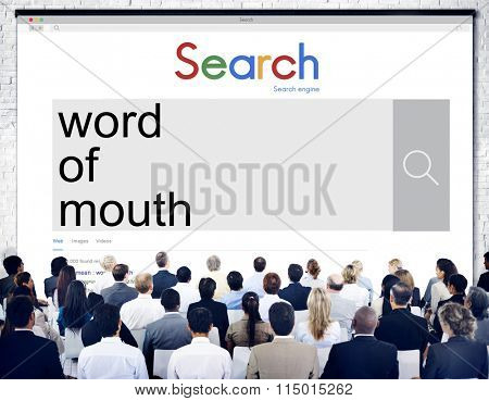 Word of Mouth Adverting Communication Network Concept