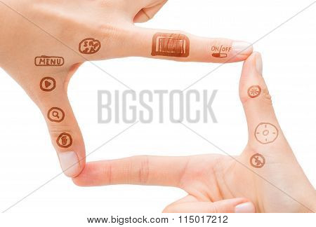 Hand Symbol That Means Digital Camera