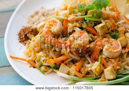 Pad Thai. Thai Noodle Style