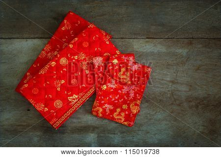 Red Lucky Money Pouches Prepared For A Chinese New Year