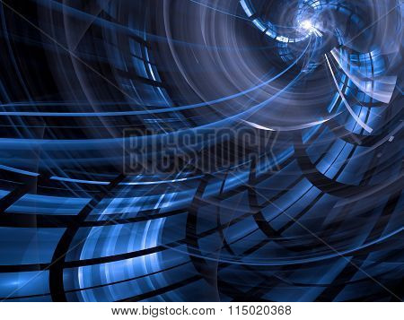 Abstract blue computer-generated image in technology style on da