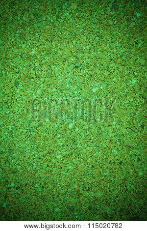 Green Cork Board Background Texture.