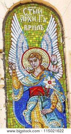 Angel Mosaic Holy Assumption Pechrsk Lavra Cathedral Kiev Ukraine