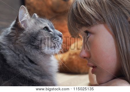 Child and animal