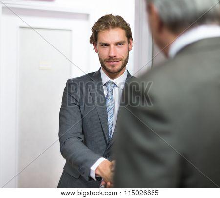 Businessmen shaking hands