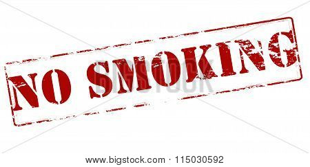 Rubber stamp with text no smoking inside vector illustration