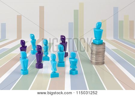 Leadership And Corporate Structure Concept.