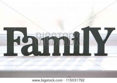Beautiful Background With The Words Family, Mother's Day Or Father's Day. The Idea For Postcards