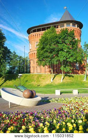 Vladimir, Vladimir region, Russia - June 17, 2015:Old water tower in Vladimir, Russia.