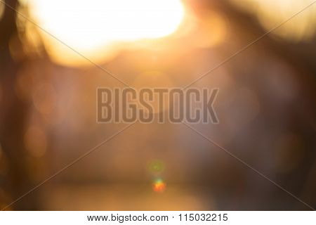 Gold Desert In Sunset, Abstract Bright Blur Background For Web Design, Brown Colorful Background, Bl