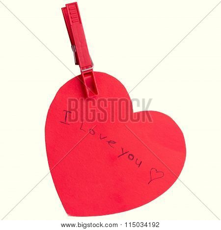 Heart shape note