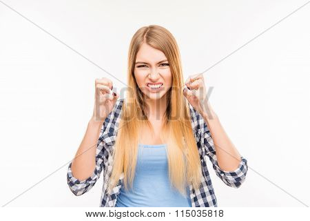 Portrait Of Girl In Bad Mood