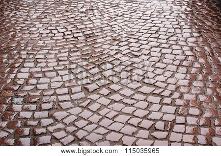 Background Of Wet Road Paving