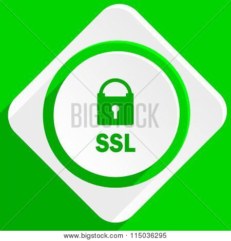 ssl green flat icon
