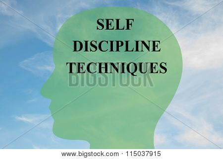 Self Discipline Techniques Concept