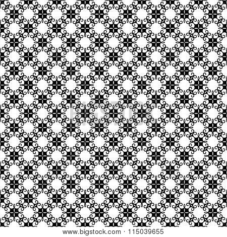 black and white flora pattern