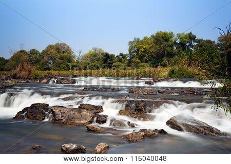 Famous Popa Falls In Caprivi, North Namibia