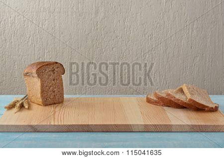 On The Kitchen Table Loaf Of Bread