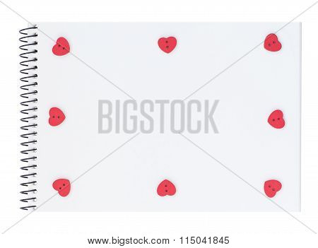 Notepad With Heart Shaped Buttons