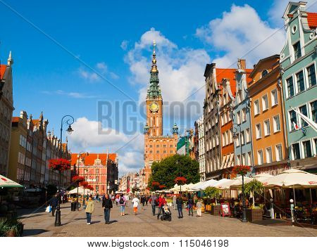 Dlugi Targ and Town Hall in historical centre of Gdansk