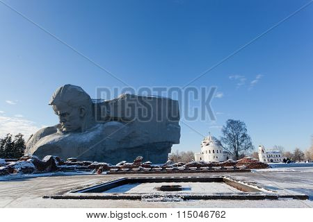 monument Courage And An Eternal Flame In Brest Fortress