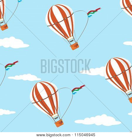 Seamless   pattern air  ballon