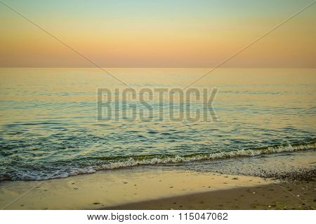 calm sea in the evening