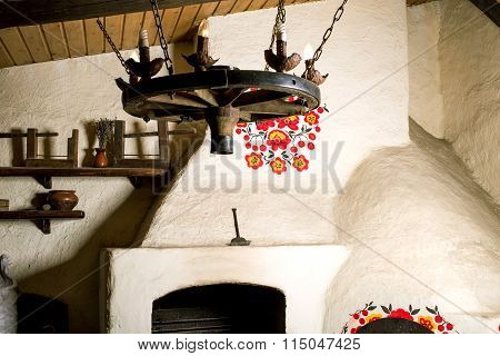 Traditional moldovan oven for cooking.