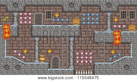 platform game tileset 3