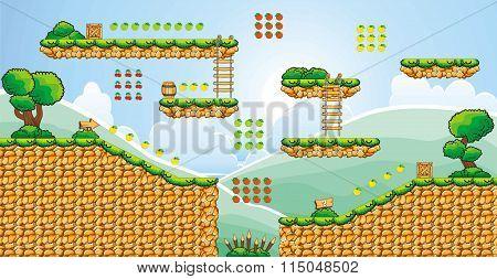 platform game tileset 5
