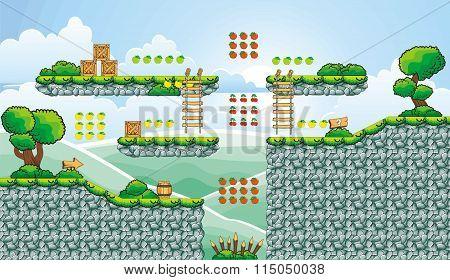 platform game tileset 12