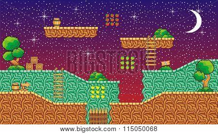 platform game tileset 13