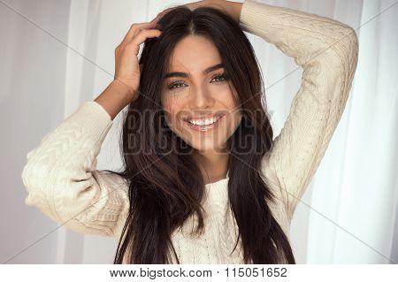Brunette Woman Posing.