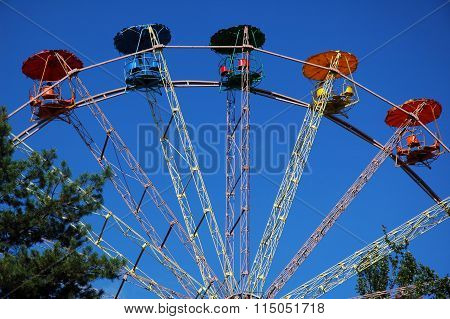 Close-up of empty Ferris wheel