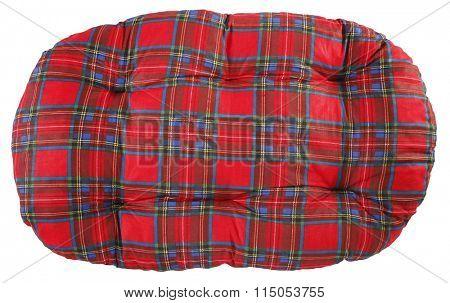 Pet pillow plaid pet bed