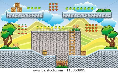 Platform Game Tileset 21.eps