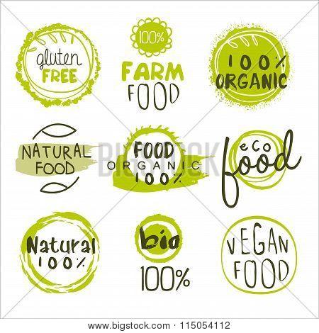 Eco Food Lables Set