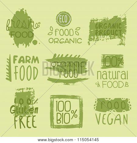Bio Food Lables Set