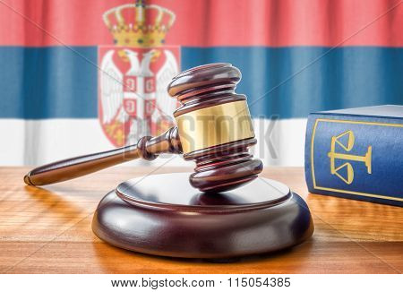 A Gavel And A Law Book - Serbia