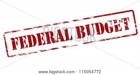 Rubber stamp with text federal budget inside vector illustration