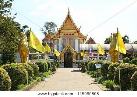 Wat Phai Lom Temple At Koh Kret, Nonthaburi ,thailand.